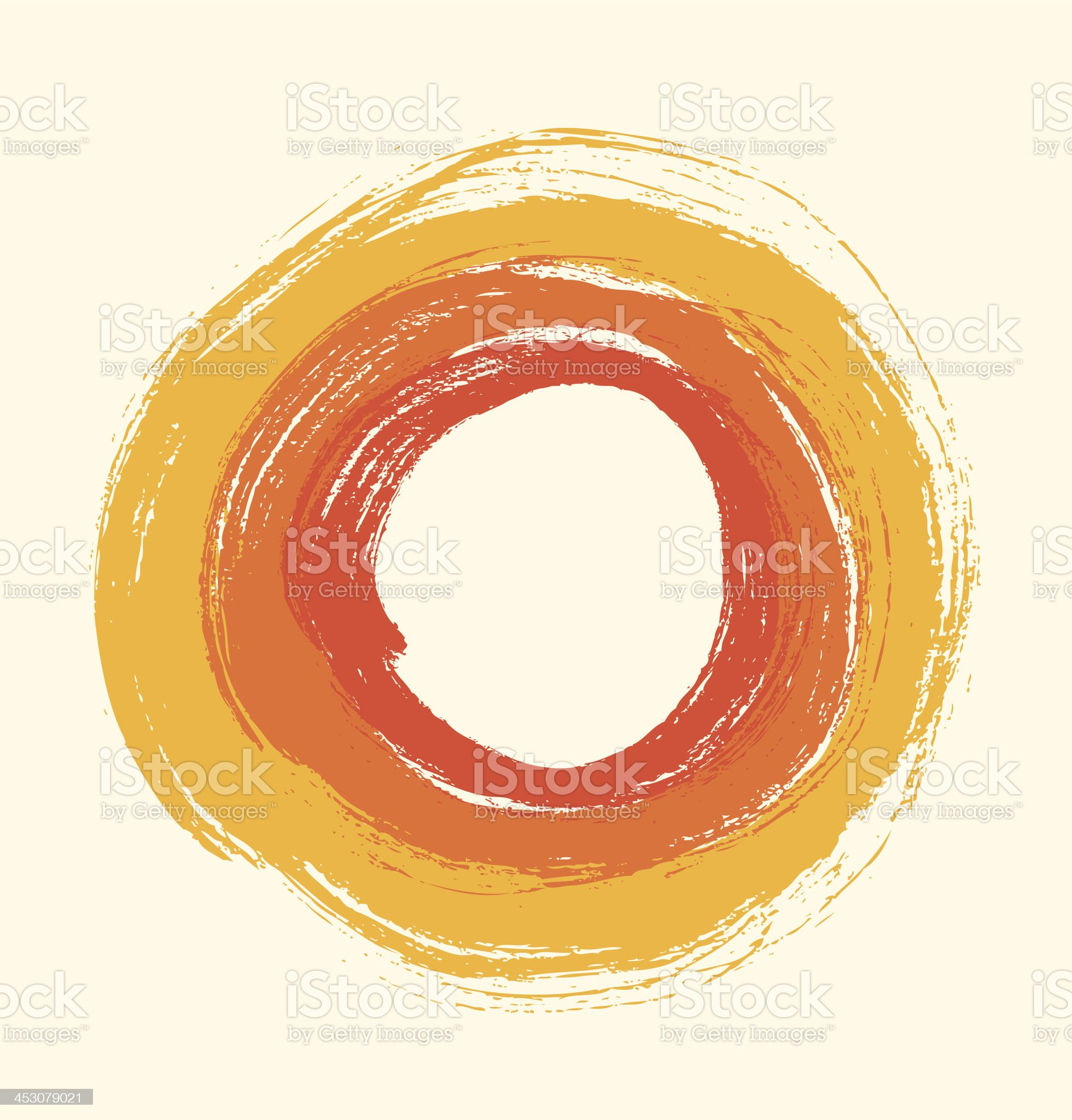 Artistic background  Drawn rings royalty-free stock vector art