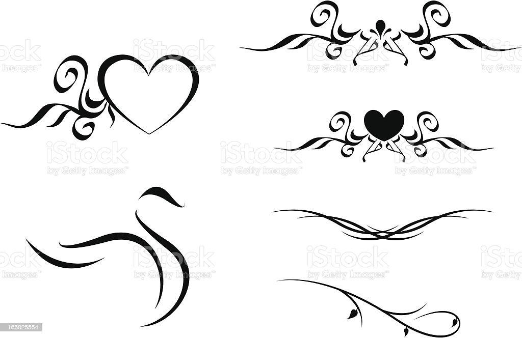 Artistic elements royalty-free stock vector art