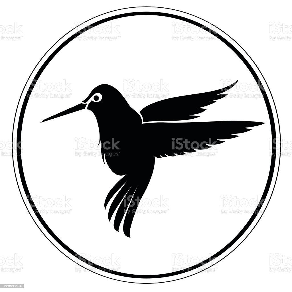 Artistic Humming bird vector art illustration