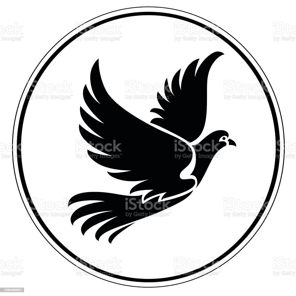 Artistic pigeon vector art illustration