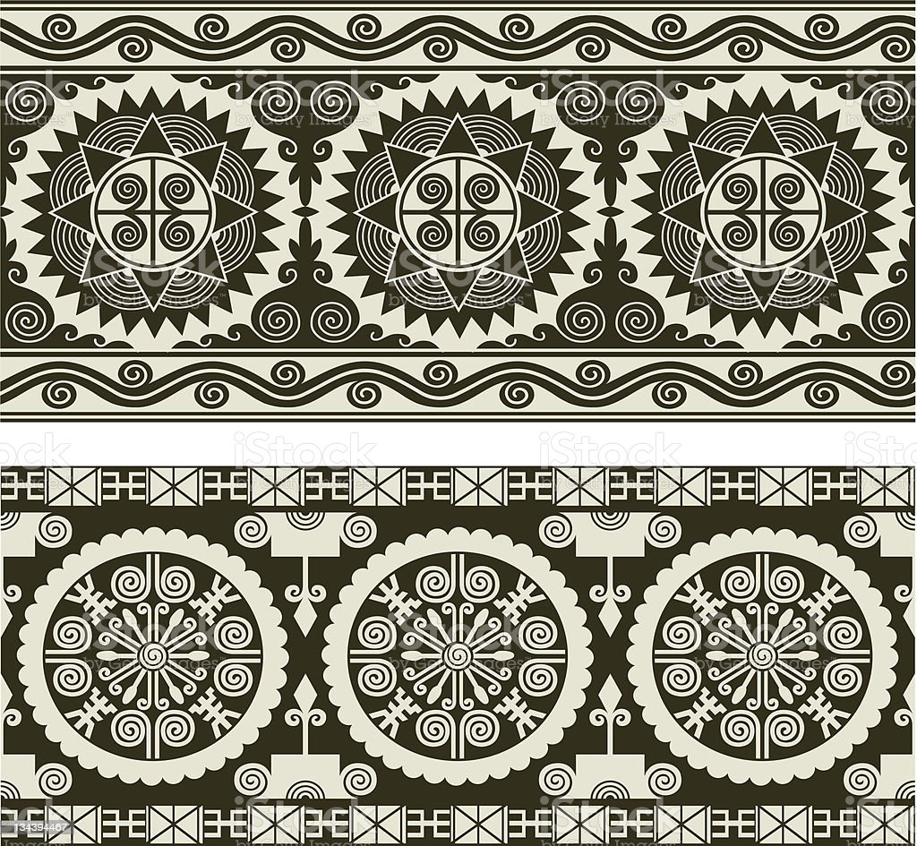 artistic scroll border royalty-free stock vector art