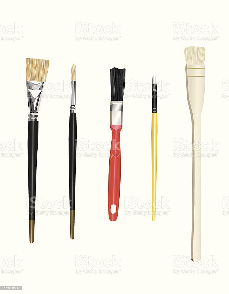 Artist's Brushes (vector & jpeg) royalty-free stock vector art