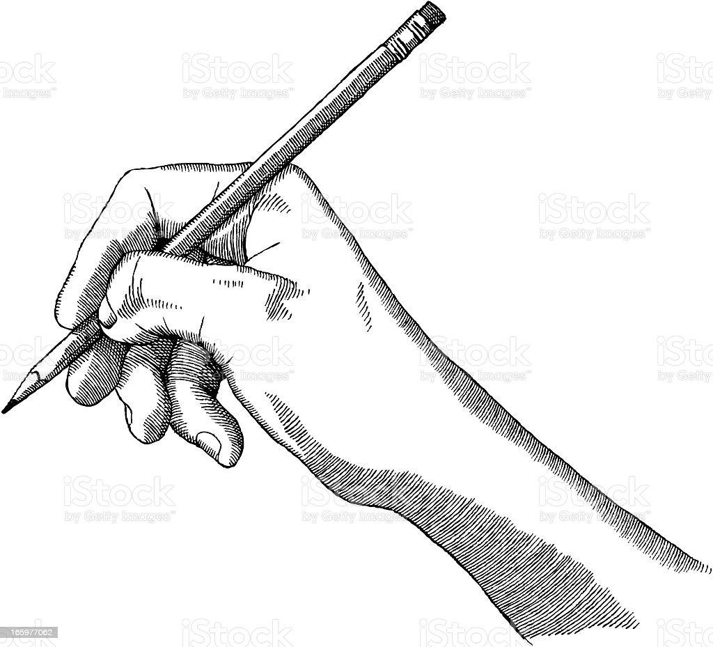 Artist's Hand royalty-free stock vector art