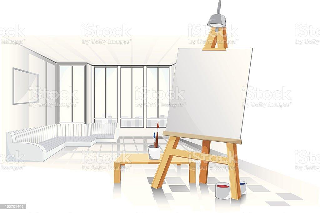 Artists studio. royalty-free stock vector art