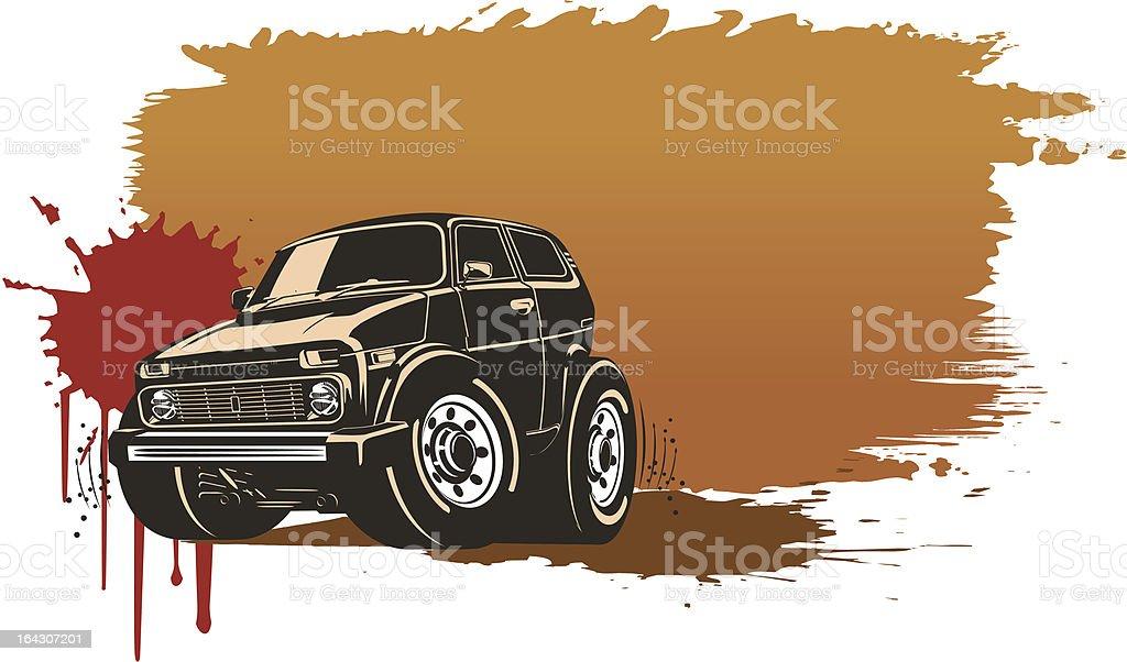 Сartoon off-road vehicle royalty-free stock vector art