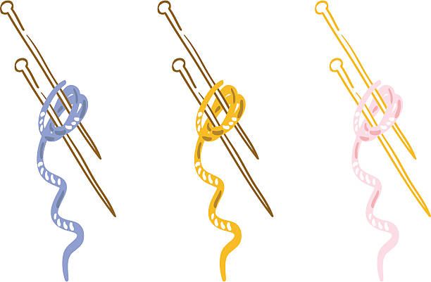 Knitting Needles Clip Art : Knitting needles clip art vector images illustrations