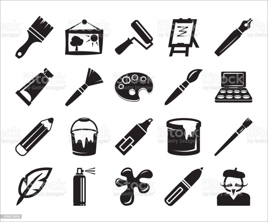 arts and crafts vector art illustration