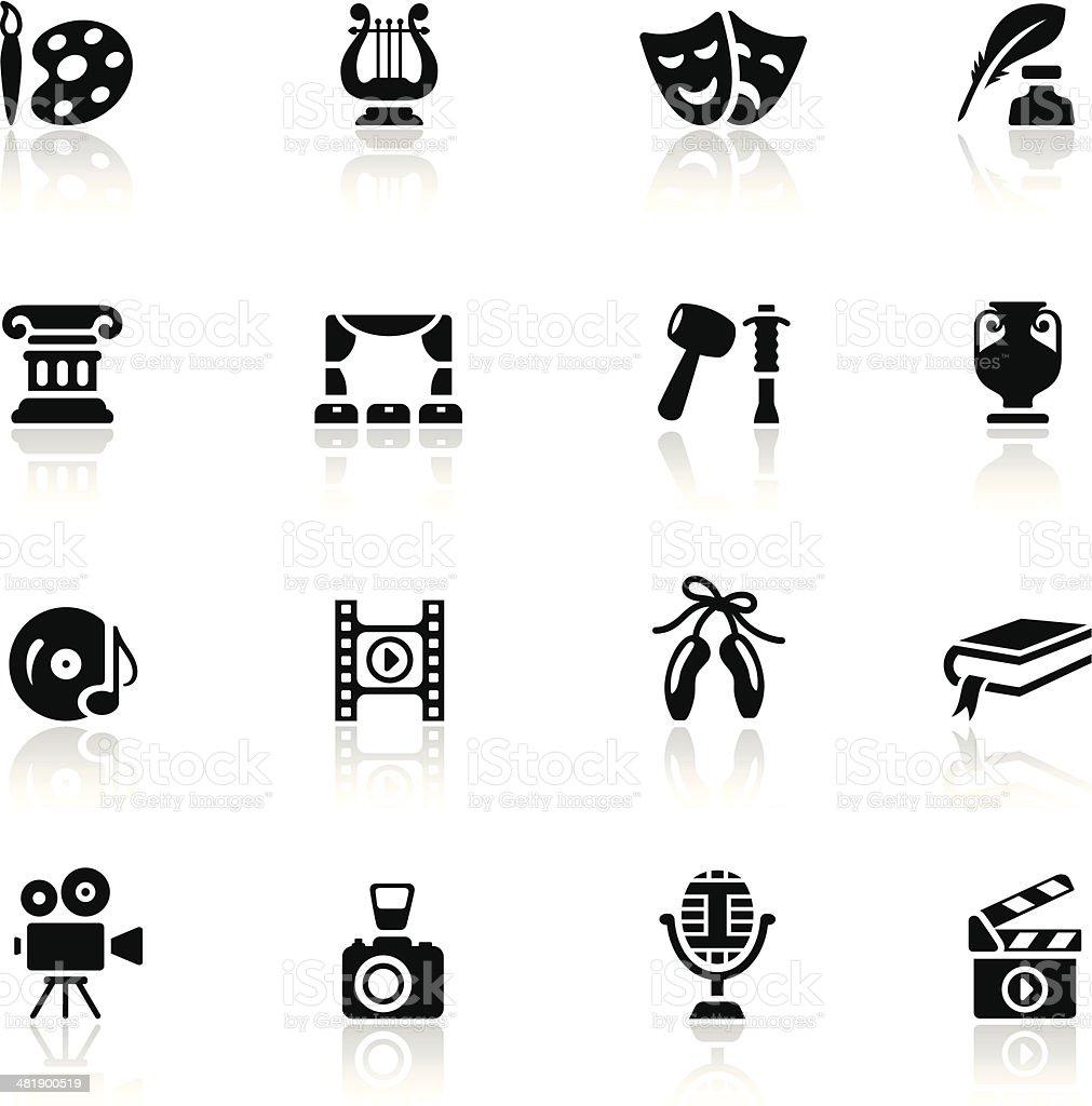 Arts Icon Set vector art illustration