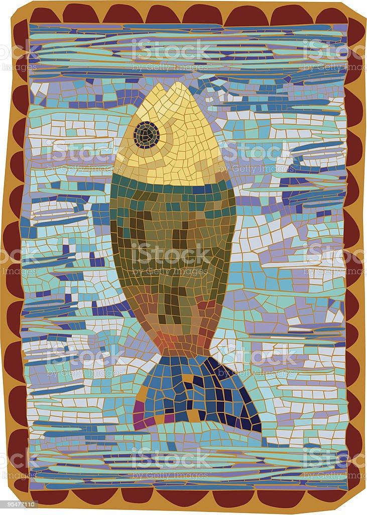 Artsy Fish Mosaic royalty-free stock vector art