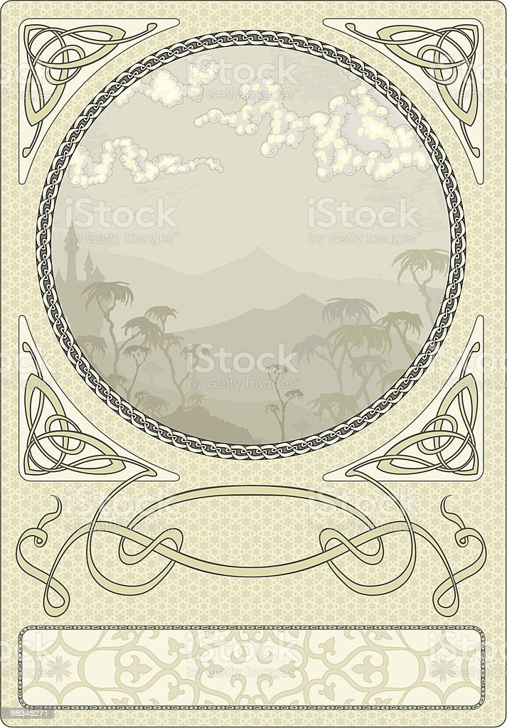 Arty Nouveau Frame vector art illustration