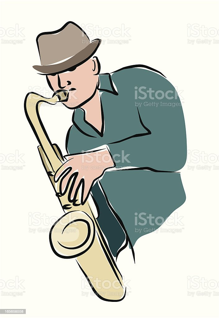 Arty Sax Player royalty-free stock vector art