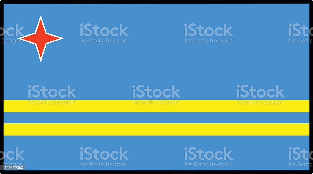 Aruba Flag vector art illustration