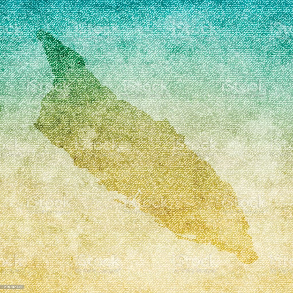 Aruba Map on grunge Canvas Background vector art illustration