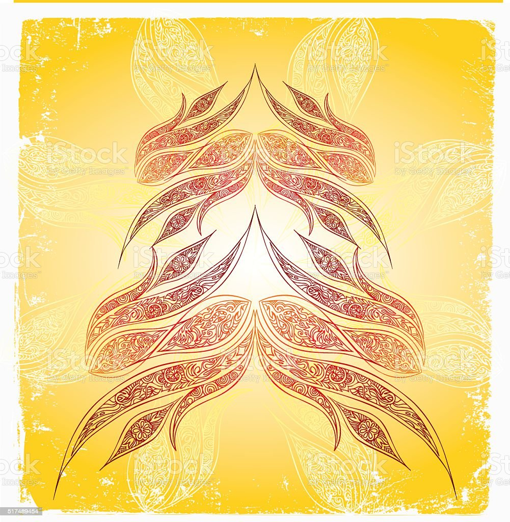 ascending prayer vector art illustration