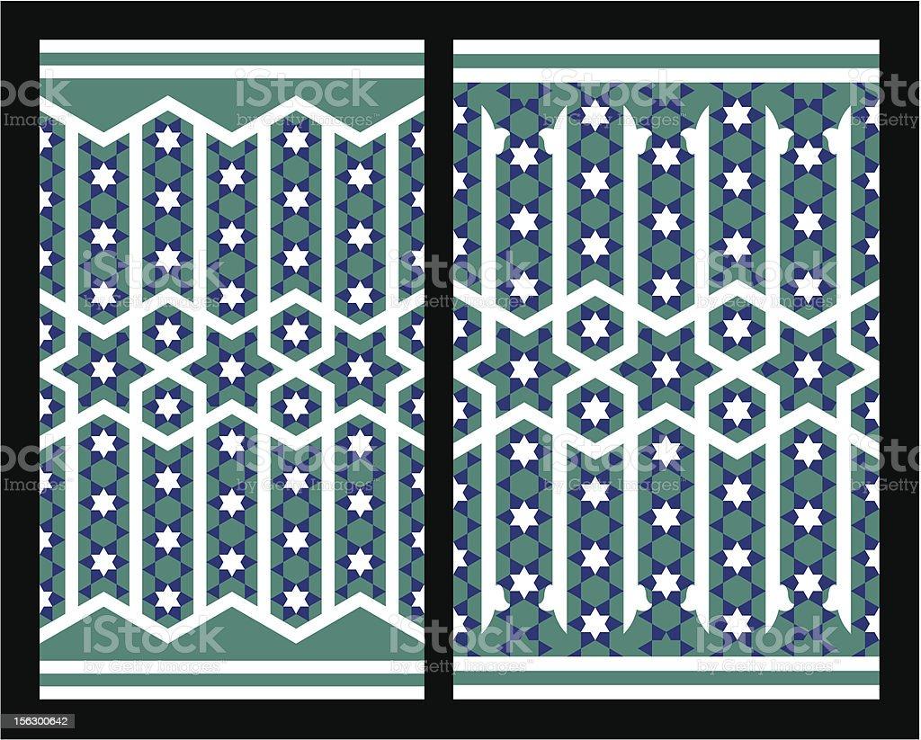Ashkezar Seamless Borders Set royalty-free stock vector art