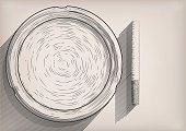 Ashtray cigarette cigarettes ash-pot  empty clear clean tobacco vector illustration