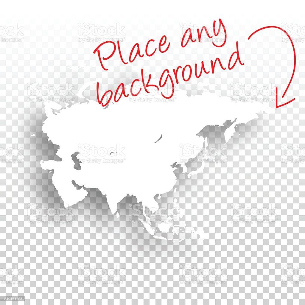 Asia Map for design - Blank Background vector art illustration