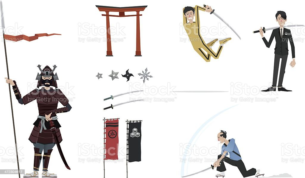 Asia set compilation royalty-free stock vector art