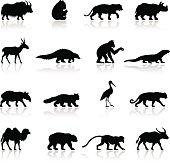 Asian Animal Silhouettes