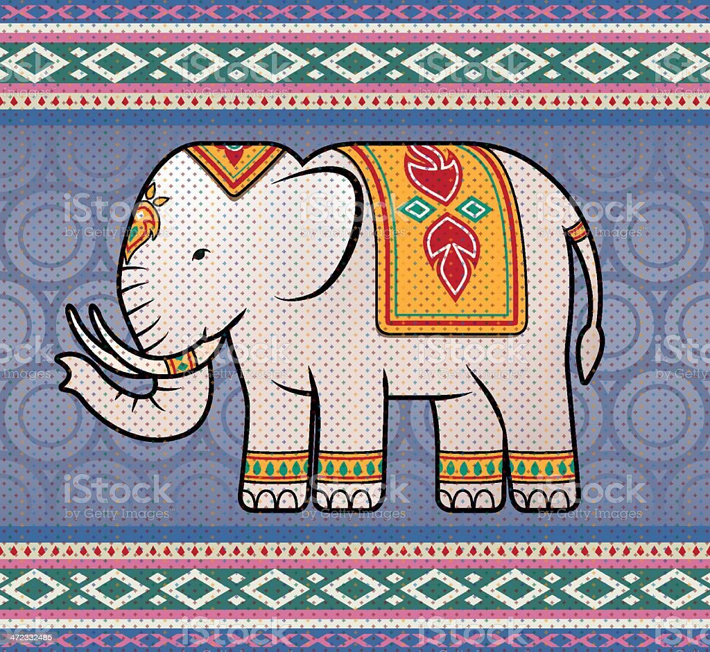 Asian Elephant royalty-free stock vector art