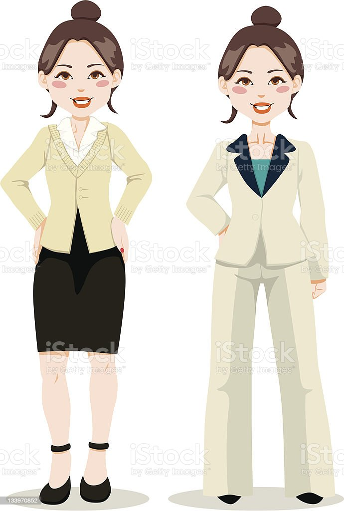 Asian Executive Woman royalty-free stock vector art