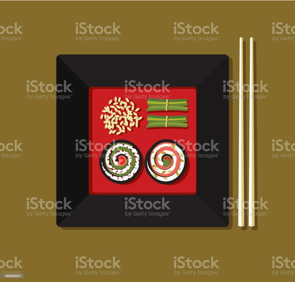 Asian food royalty-free stock vector art