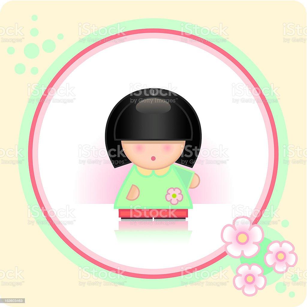 Asian Girl royalty-free stock vector art