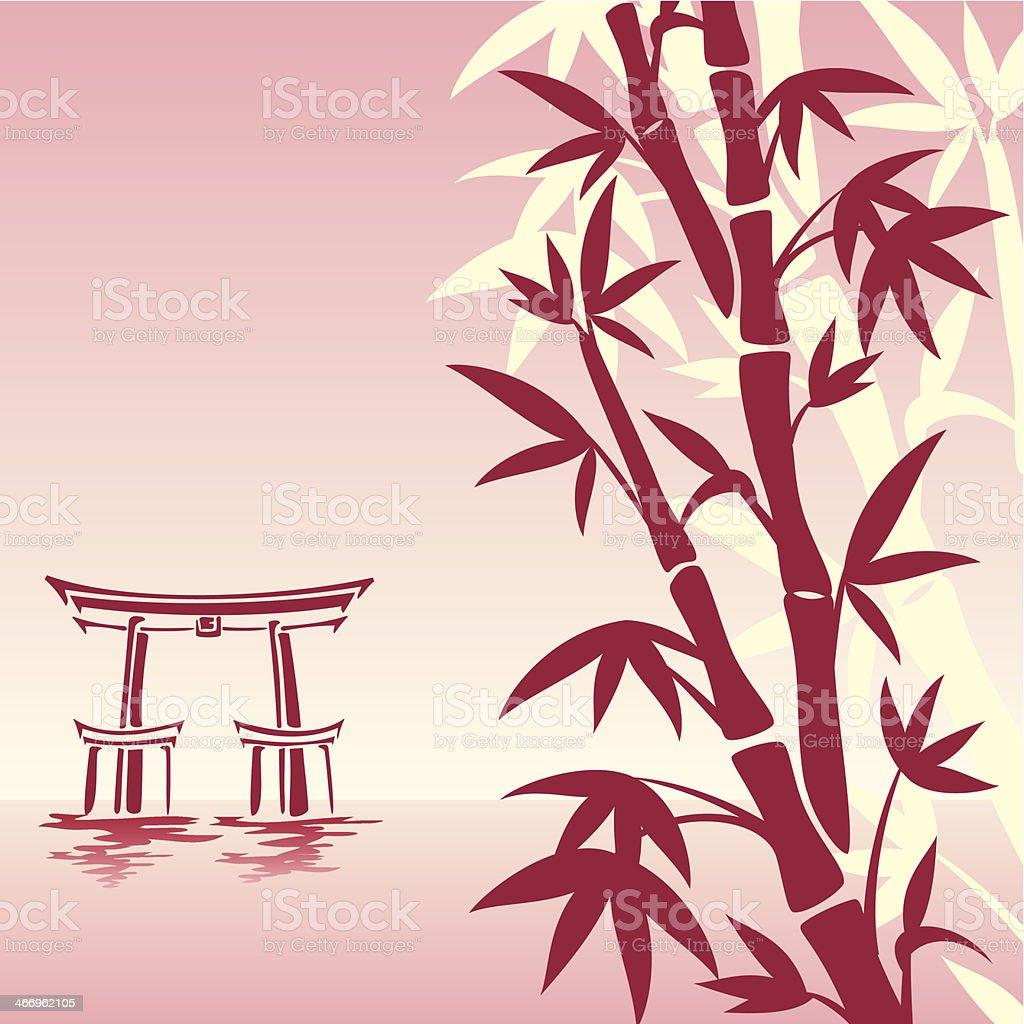 asian landscape royalty-free stock vector art