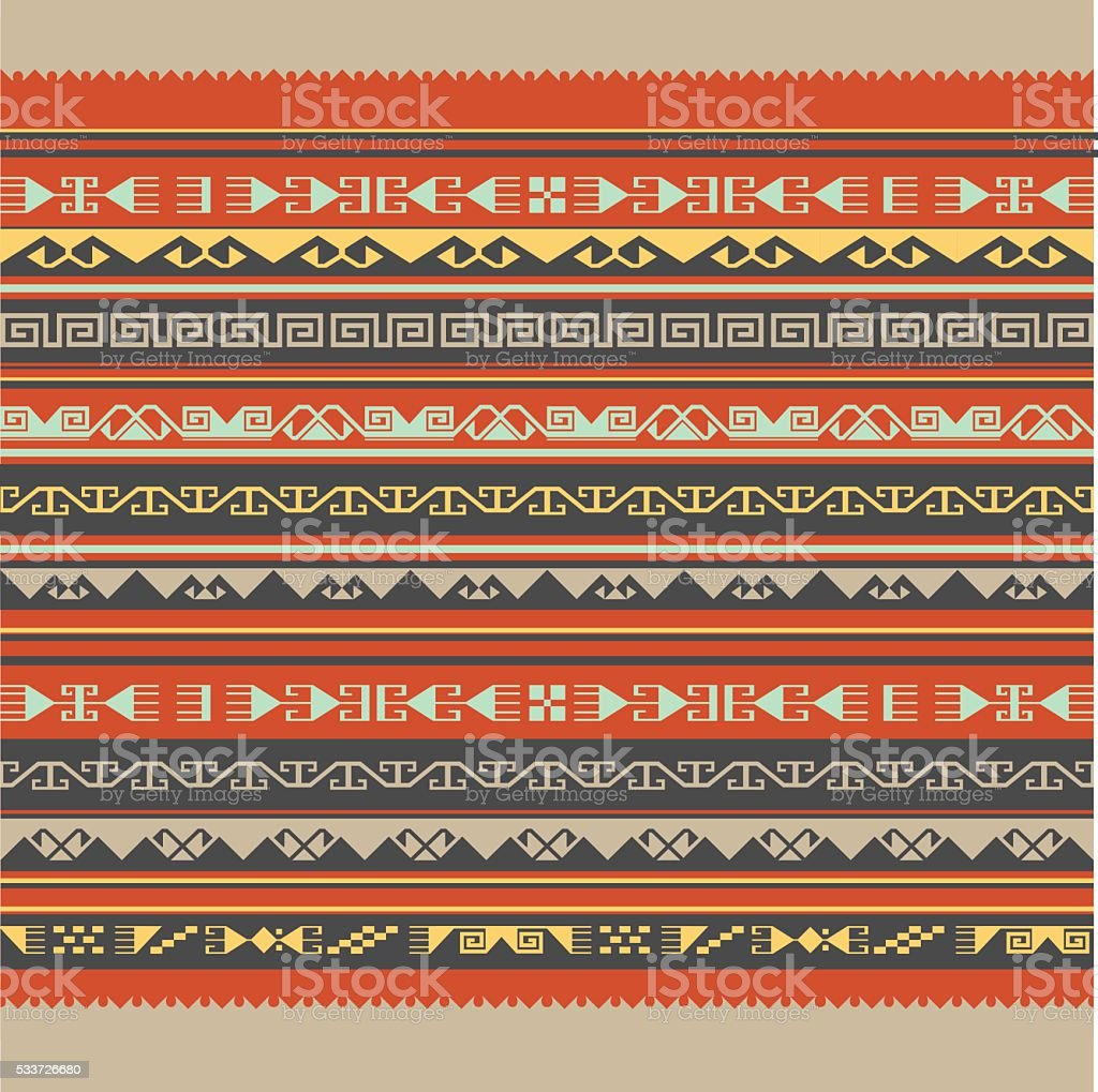 Asian ornaments collection. Historically ornamental of nomadic people. vector art illustration
