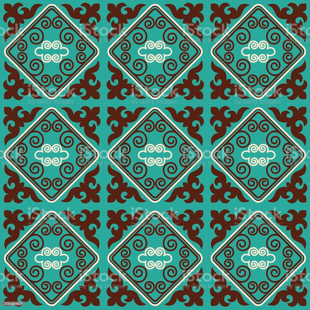 Asian ornaments collection vector art illustration