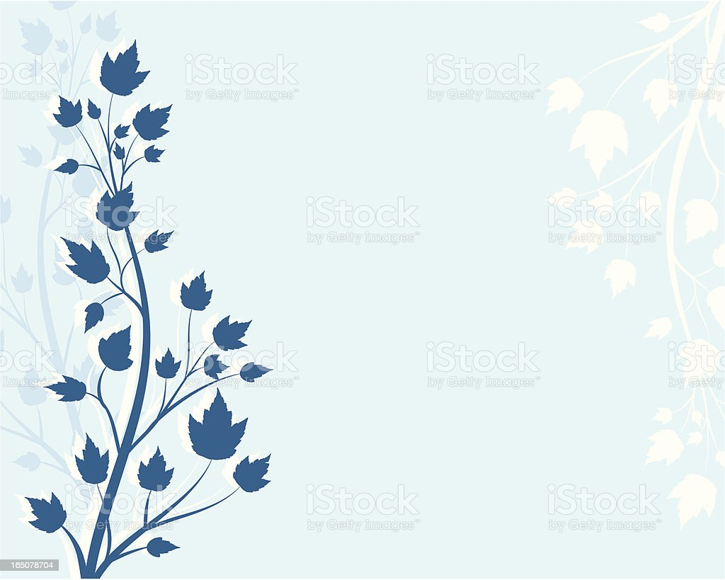 Asian style maple print vector art illustration