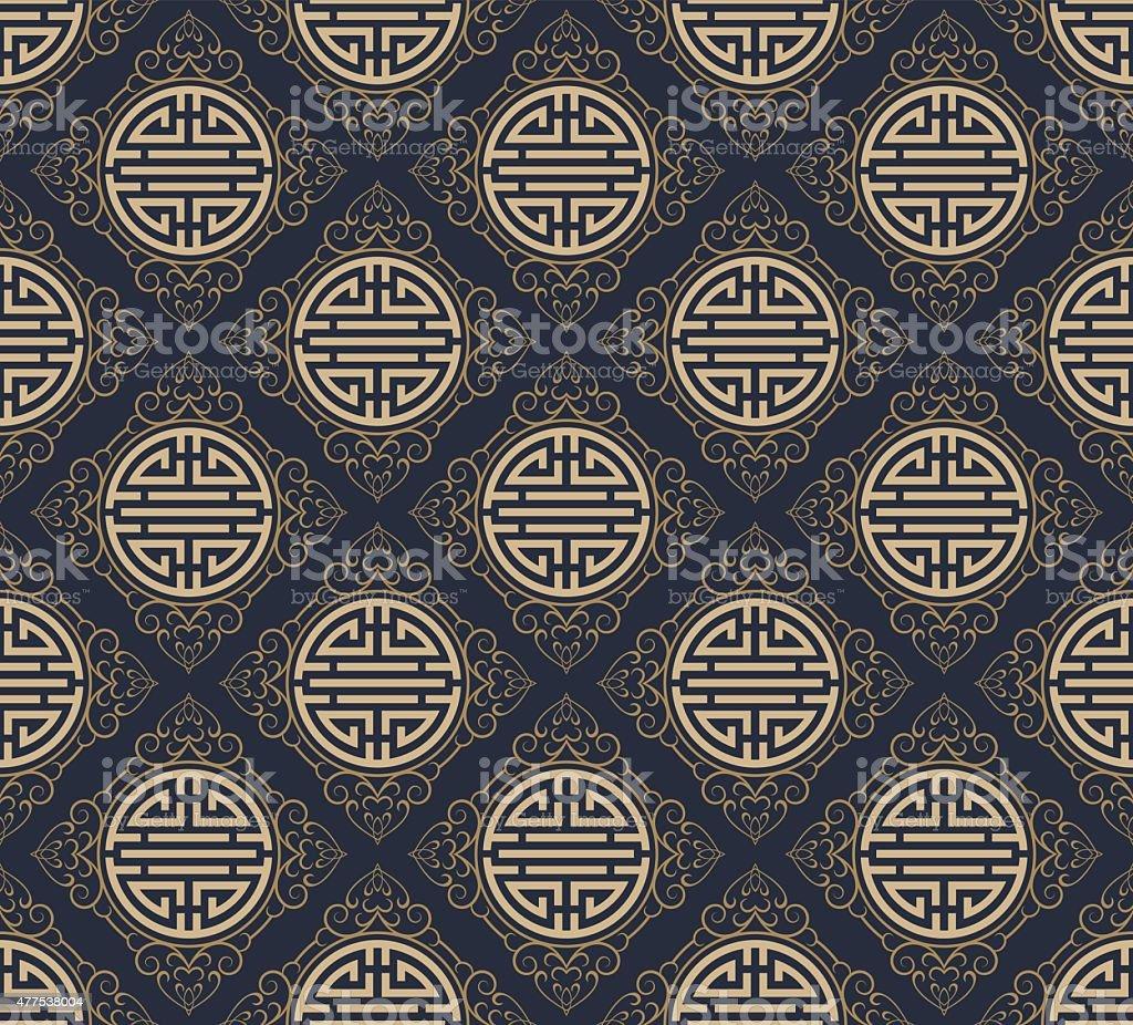 Asian Style Pattern Seamless Texture vector art illustration