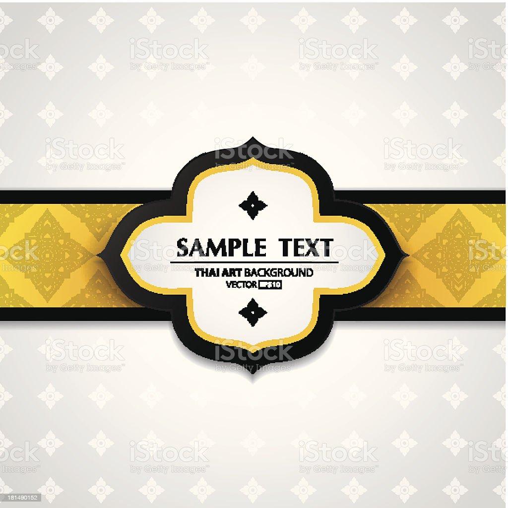 Asian tradition art pattern cover design. vector art illustration