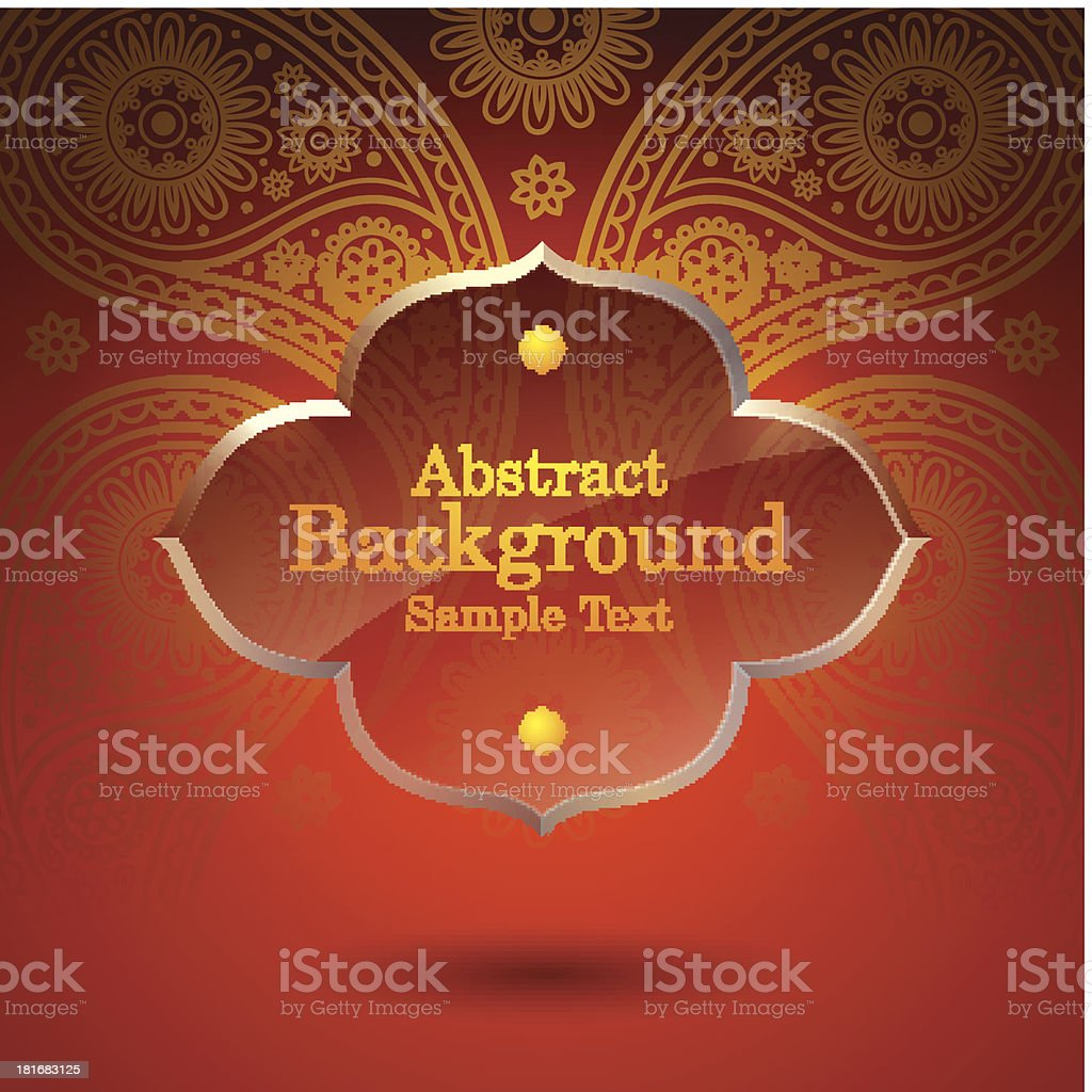 Asian tradition art pattern cover design. vector art illustration
