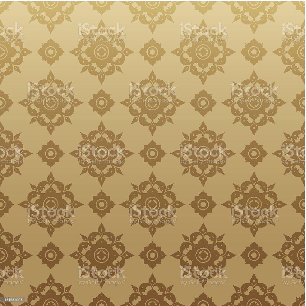 Asian tradition art pattern. vector art illustration