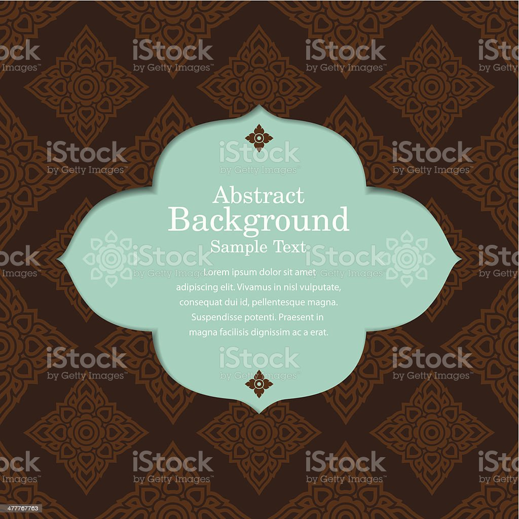 Asian  tradition art pattern. royalty-free stock vector art