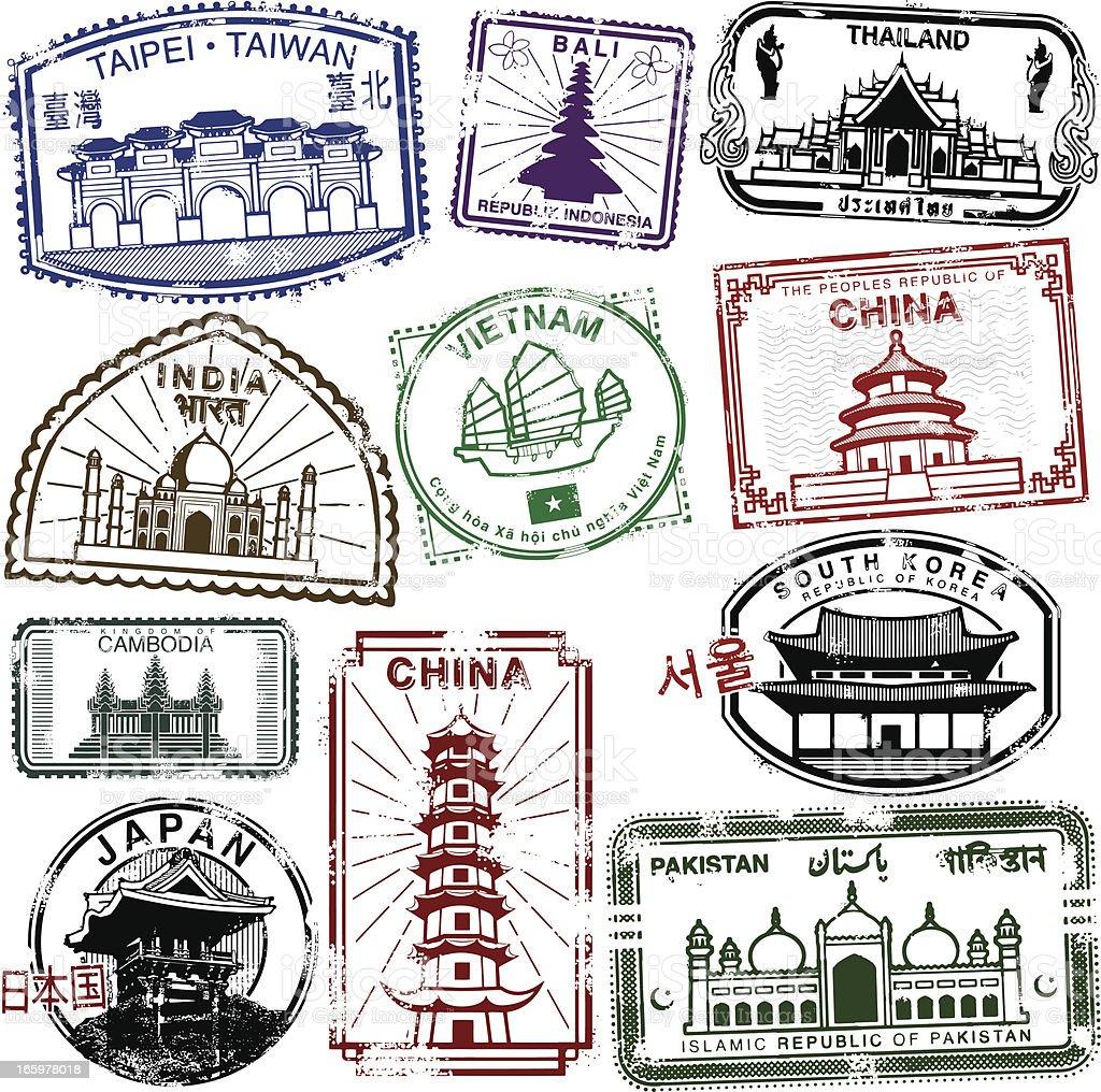 Asian Travel Splendor vector art illustration