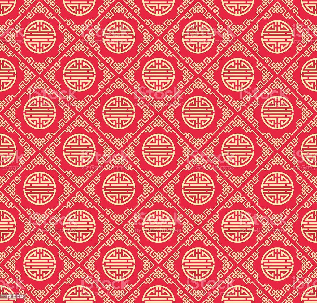 Asian Wallpaper Pattern vector art illustration