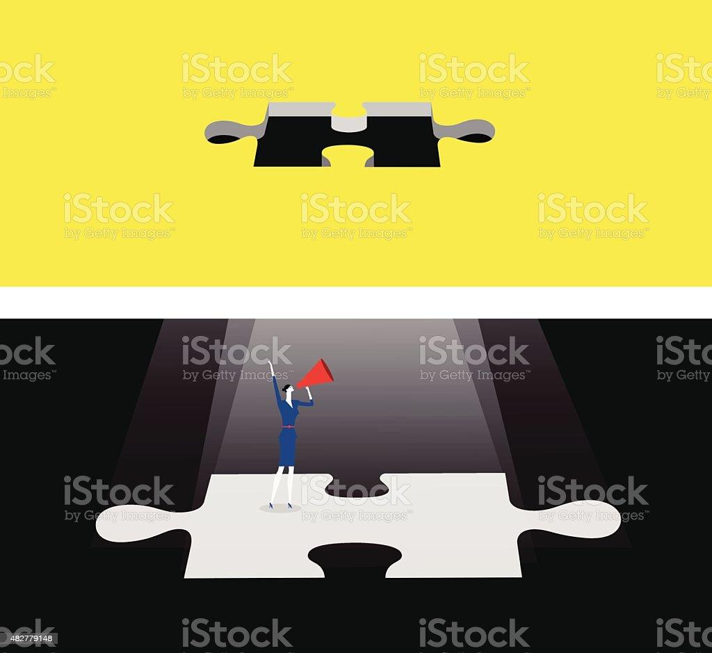Asking for help vector art illustration