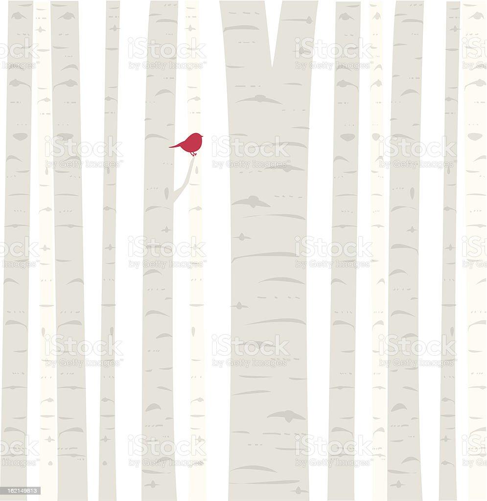 Aspen Birdie vector art illustration