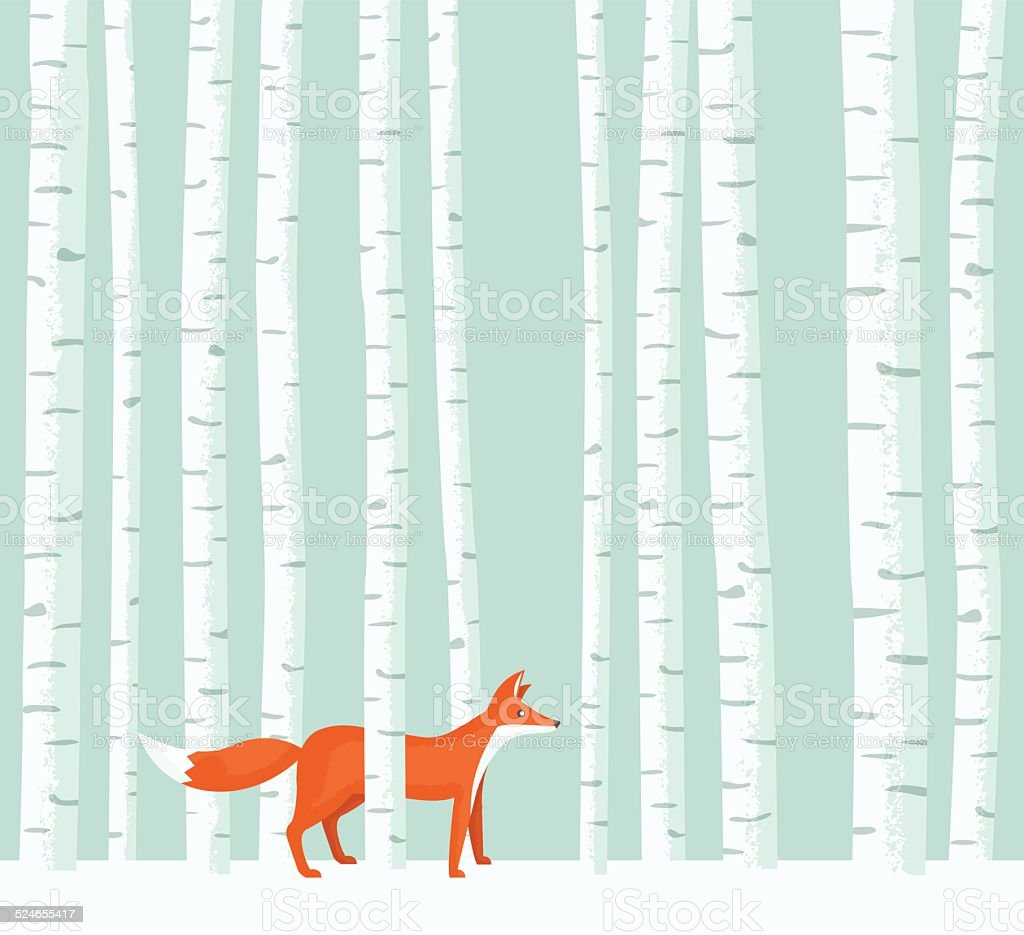 Aspen Fox vector art illustration
