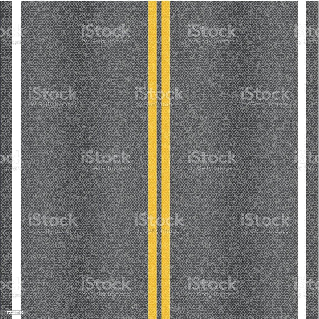 Asphalt road vector art illustration