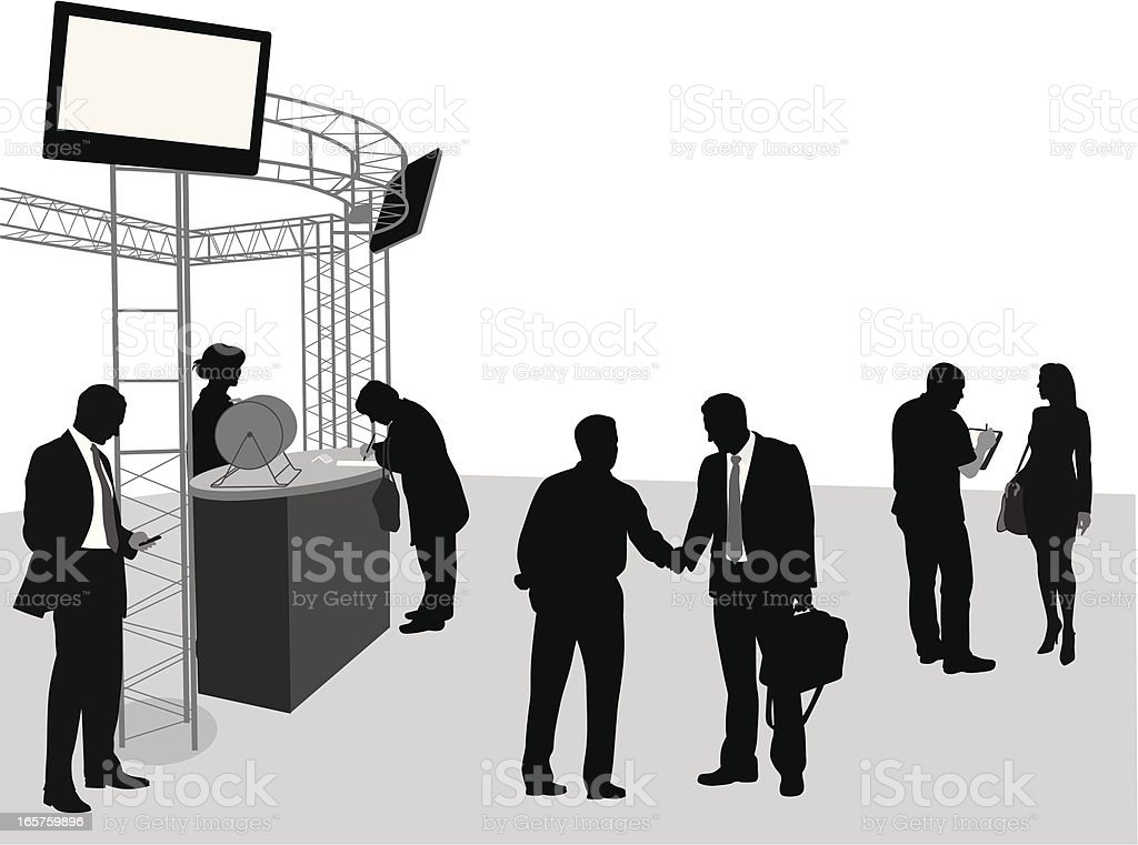 Assembled Vector Silhouette royalty-free stock vector art
