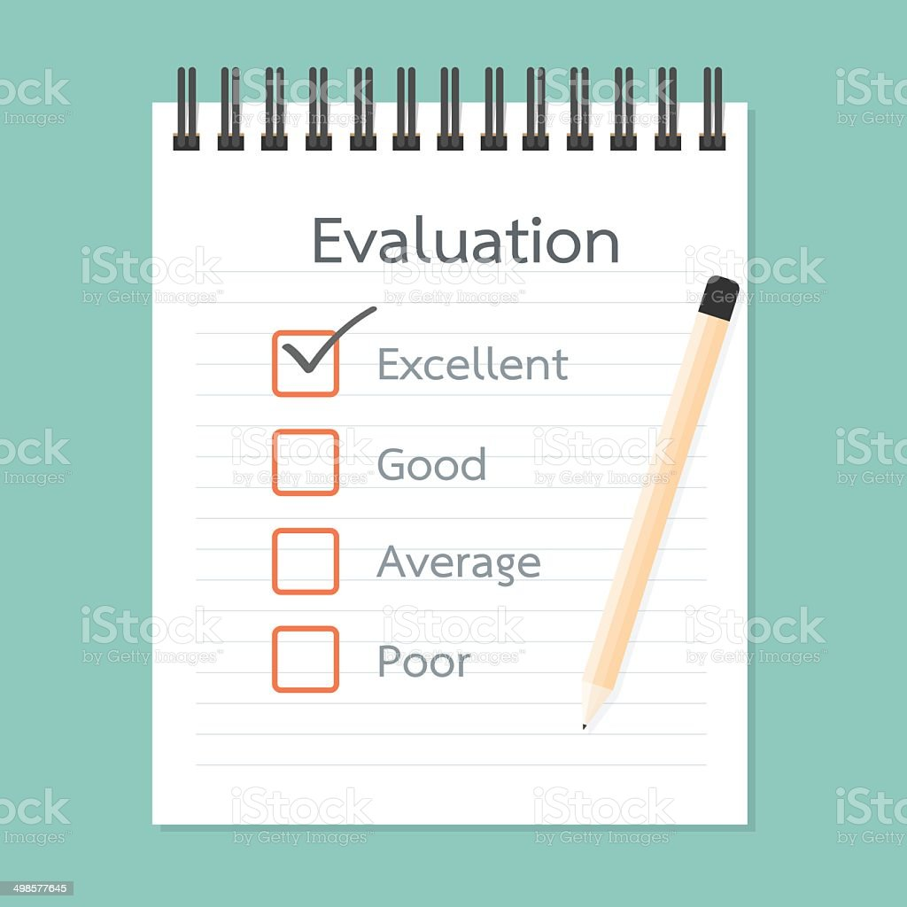 Assessment book and Quality Check royalty-free stock vector art