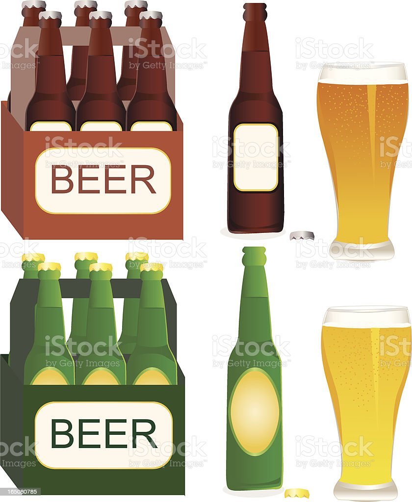 Assorted Beer vector art illustration