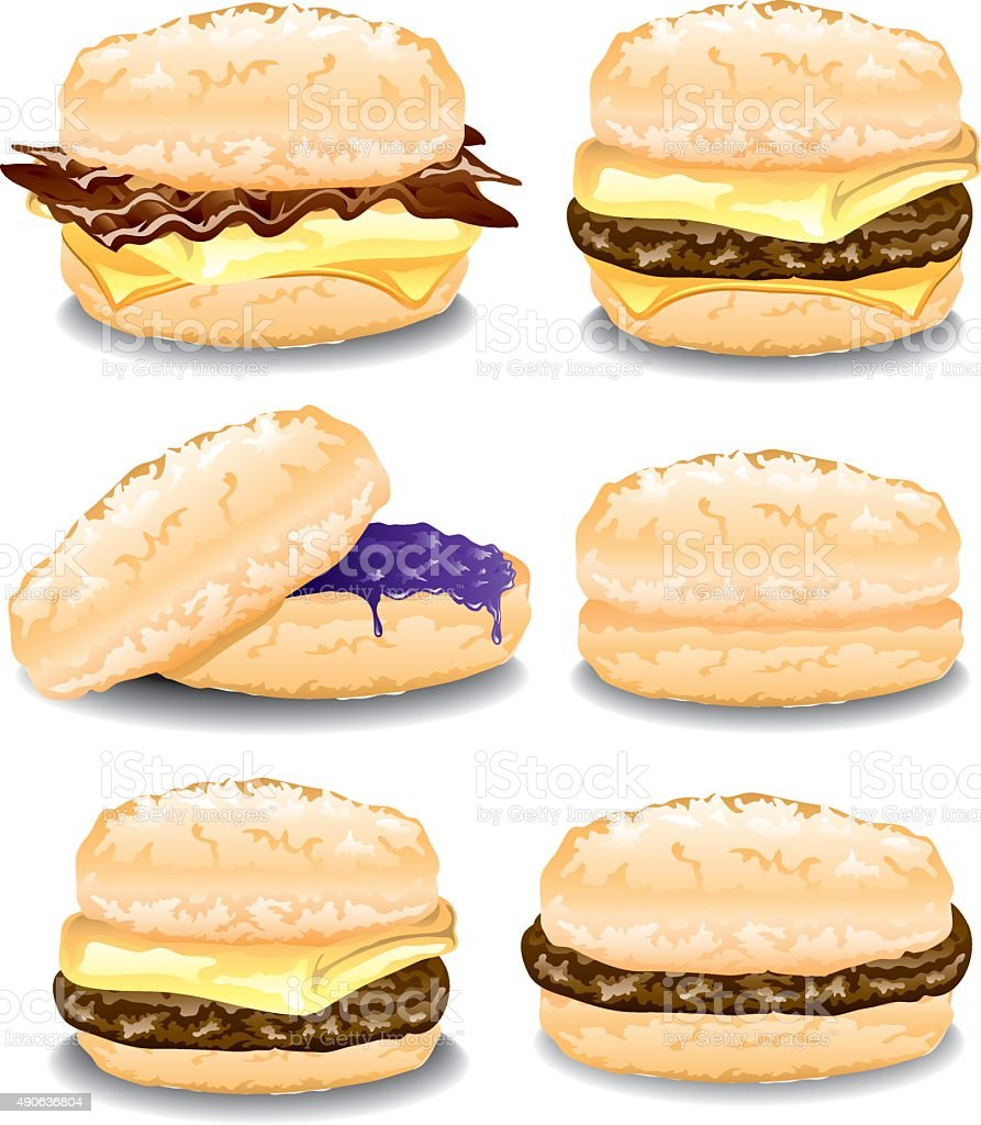 Assorted Biscuits vector art illustration