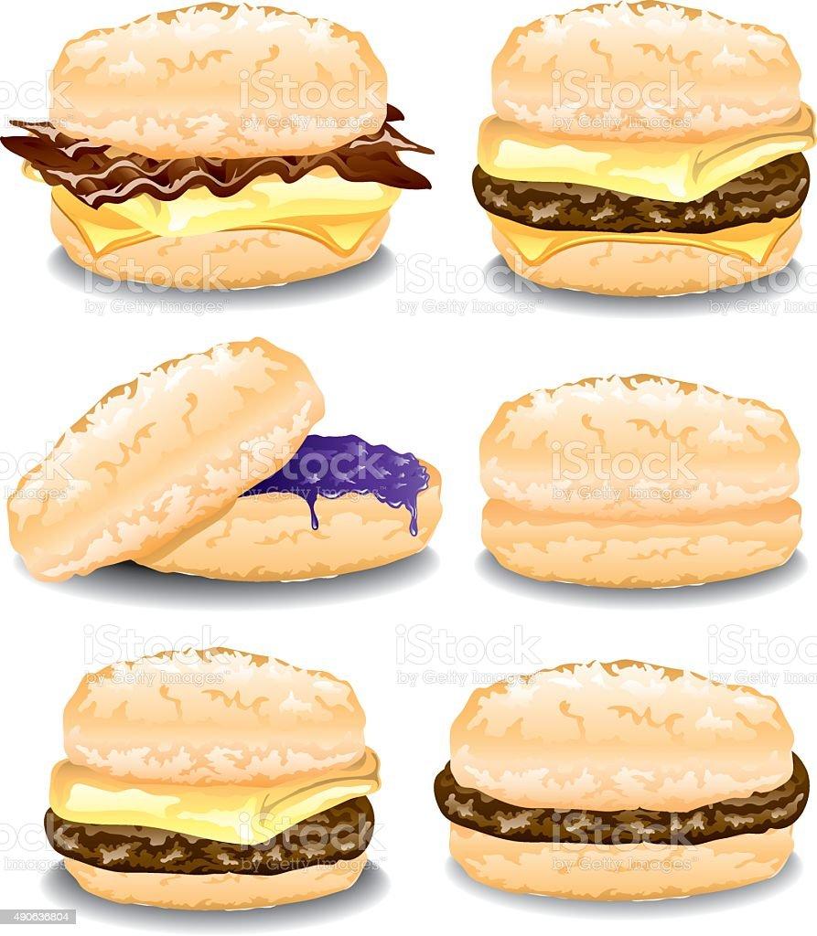 Assorted Biscuits vector art illustration