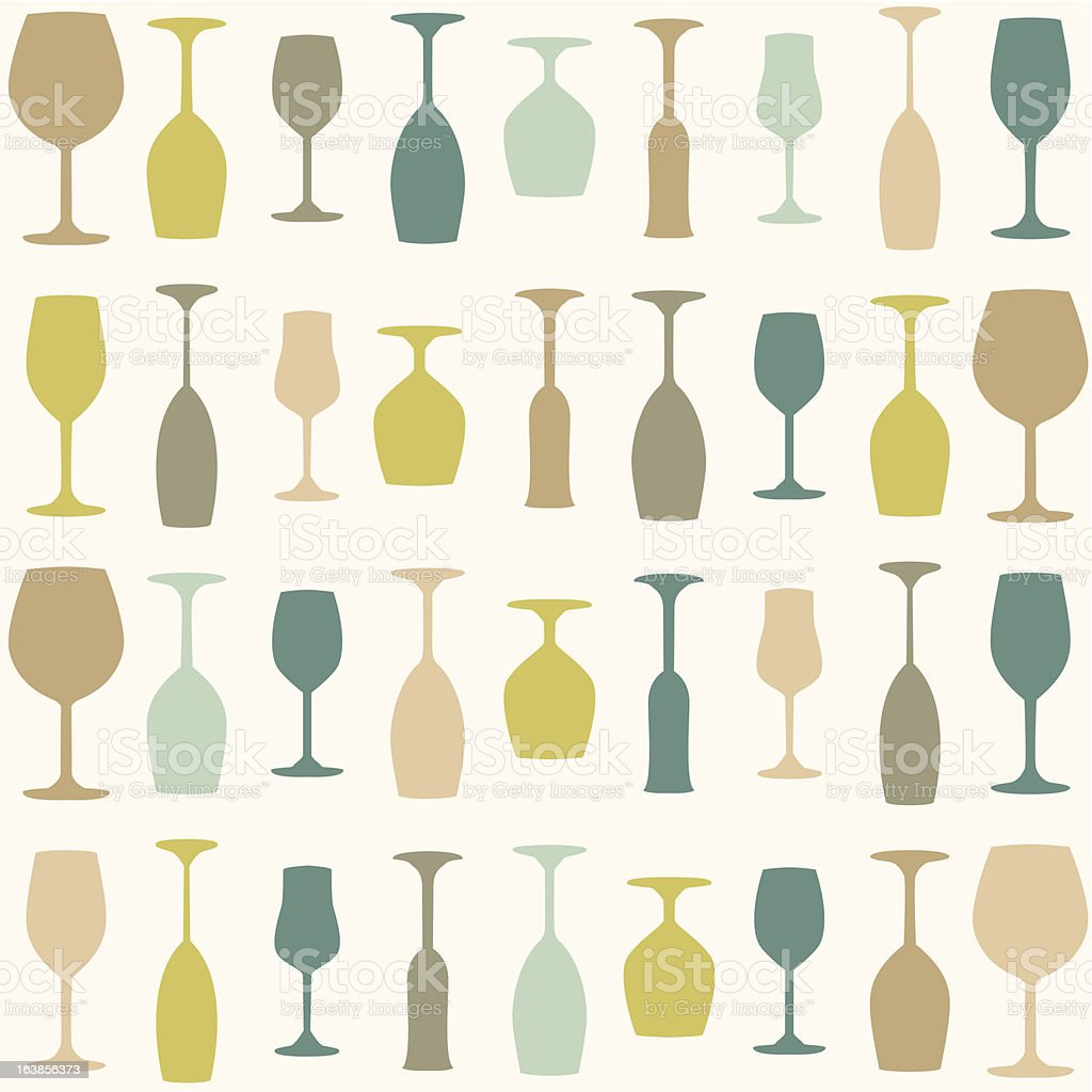 Assorted color wine glass background animation royalty-free stock vector art