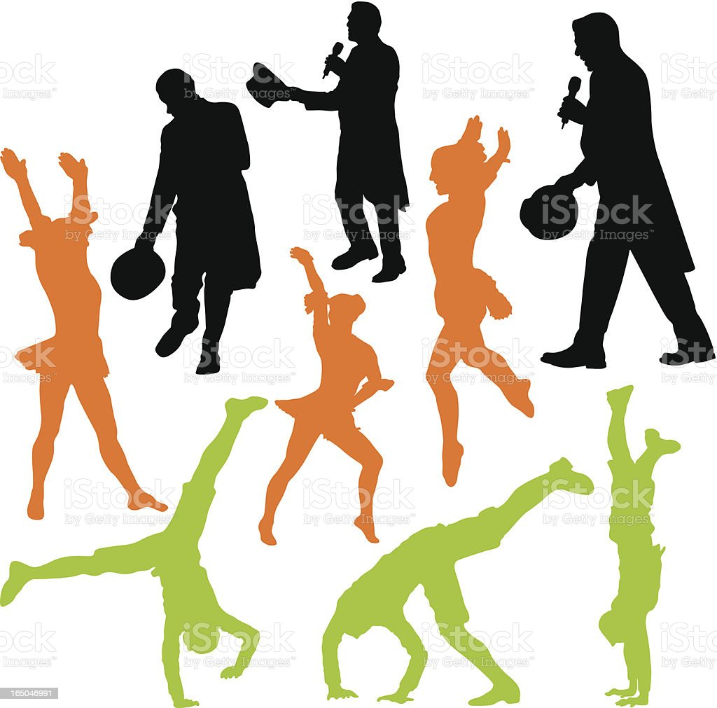 Assorted performers to use in your design vector art illustration