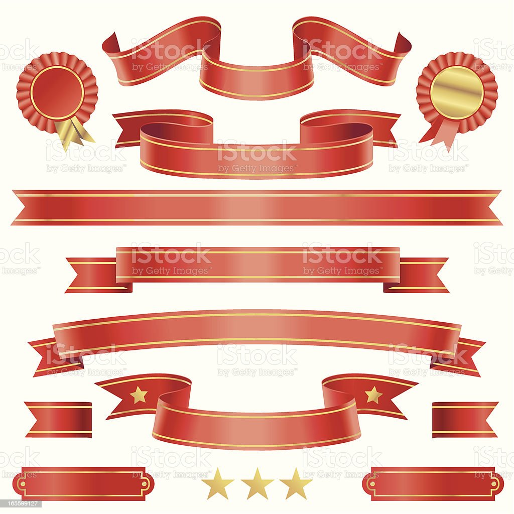 Assorted Red Scrolls royalty-free stock vector art